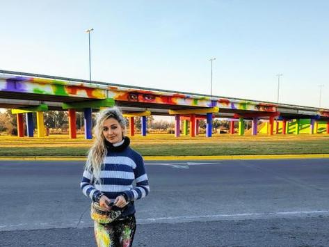 "San Vicente | Pintaron mural de 120 metros de extensión en homenaje a ""héroes"" de la pandemia"
