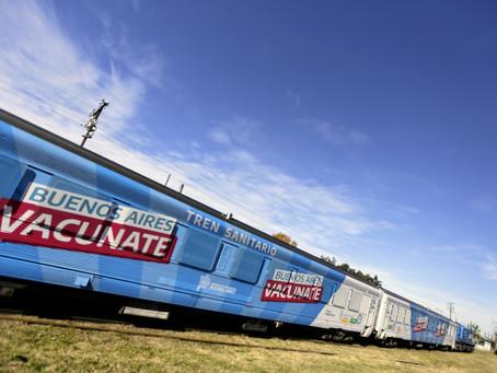 El Gobierno bonaerense puso en marcha el Tren Sanitario que unirá Cañuelas con Bahía Blanca