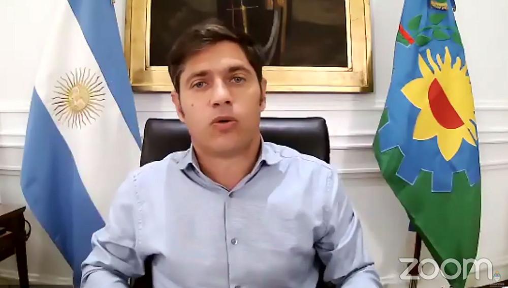 Gobernador Axel kicillof.