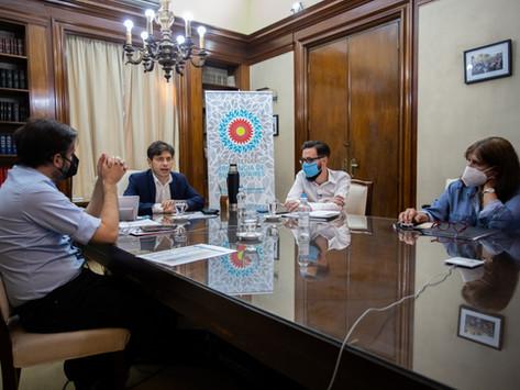 Kicillof y Simone firmaron convenios para 71 obras de infraestructura en 44 municipios bonaerenses