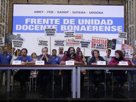"""Paritaria   Gremios piden al Gobierno bonaerense """"discutir los salarios docentes del 2021"""""""