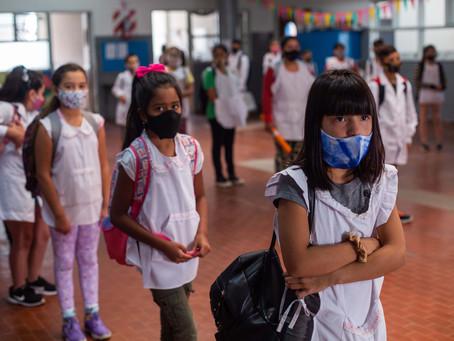 Desde el miércoles retornan las clases presenciales en los distritos del conurbano bonaerense