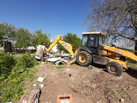 La Plata | Retoman obra hídrica en Los Hornos tras el desalojo de un predio ocupado