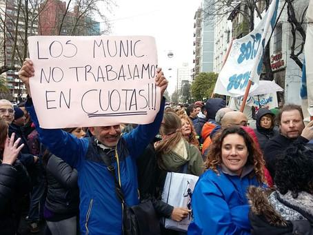 Mar del Plata | Municipales anunciaron retención de tareas por 48 horas para el próximo martes