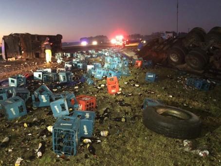 Choque múltiple en Ruta 2: murió un bebé de 4 meses y al menos 5 personas resultaron heridas