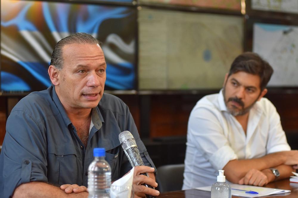 Ministros Sergio Berni y Carlos Bianco