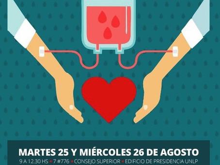 La Universidad de La Plata impulsa una campaña de donación de sangre