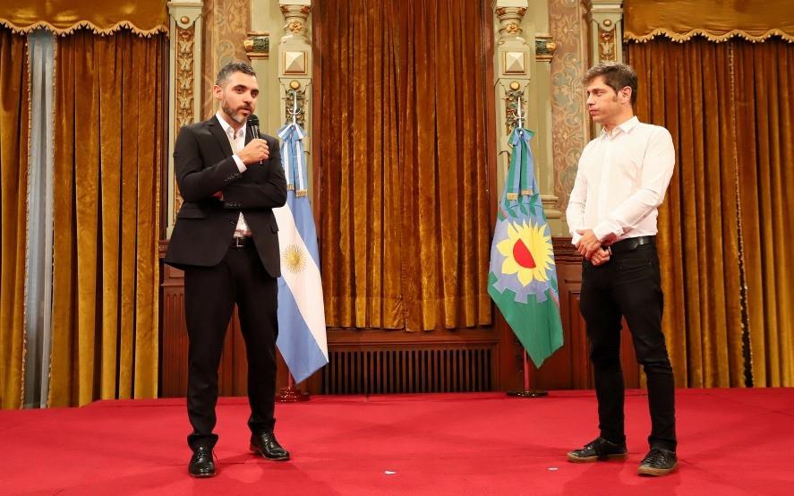 Cristian Girard y Axel Kicillof.