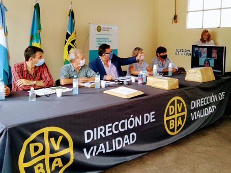 Licitan obras viales en Marcos Paz, Bahía Blanca, Ezeiza, Presidente Perón y San Vicente