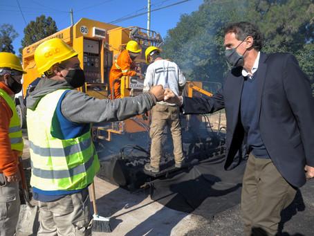 Cañuelas y San Vicente   El Ministro Katopodis recorrió obras viales y de infraestructura