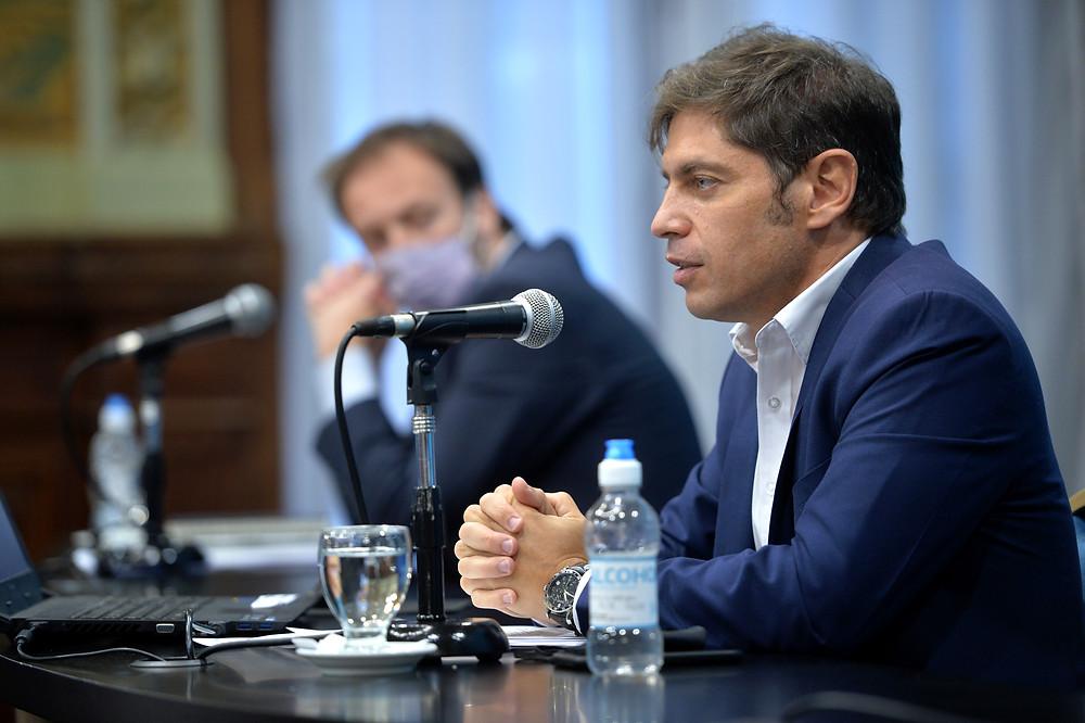 Kicillof anunció un aumento, a partir del 1° de abril, del 7% en la tarifa eléctrica.