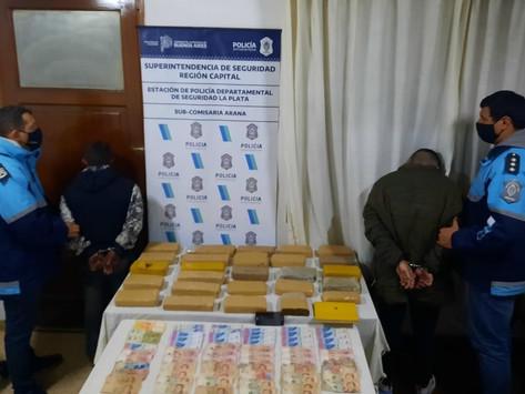 La Plata   Secuestran 30 kilos de marihuana y detienen a dos personas durante un operativo