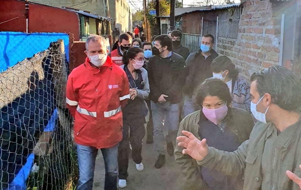 El Viceministro de Salud recorrió el barrio San Jorge de Don Torcuato de Tigre.
