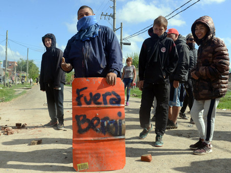 "Berni: ""Nunca vi que un grupo de izquierda tenga semejante arsenal de gases lacrimógenos"""