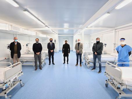 Kicillof participó de la inauguración del Hospital Modular en Villa Fiorito