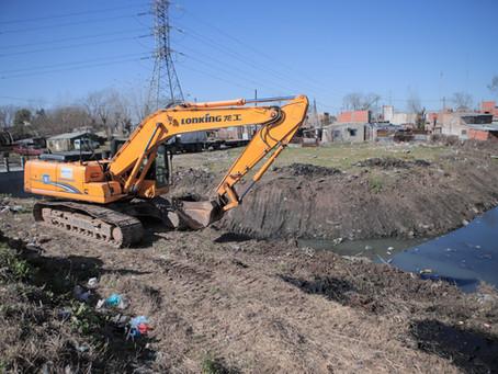 ACUMAR comenzó la limpieza de arroyos en ocho municipios de la Cuenca Matanza Riachuelo