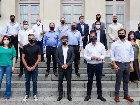 Operativo de vacunación, clases presenciales y seguridad, los temas que trató Kicillof con alcaldes