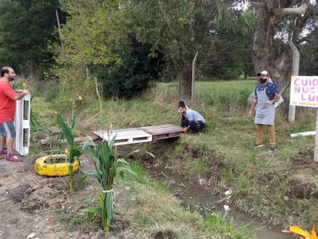 La Plata | Vecinos y vecinas de un barrio convirtieron un basural en un jardín de plantas