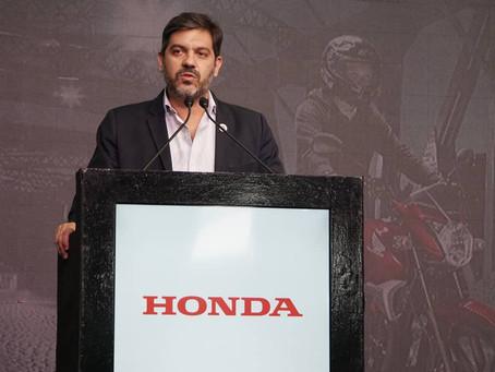 Campana | Bianco participó en el lanzamiento de un nuevo modelo de motocicleta producido por Honda