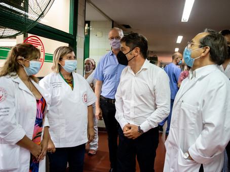 """Kicillof en Berazategui   """"Las vacunas ya están disponibles en todos los municipios"""" bonaerenses"""