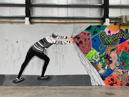"""""""El muro que libera"""", el concurso de muralismo que llevó color a las cárceles bonaerenses"""