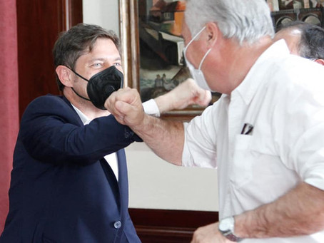 Roque Pérez | El Intendente Horna mantuvo una reunión con el Gobernador Kicillof