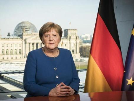 "Merkel resaltó la importancia ""de fortalecer la salud pública"" para luchar contra el coronavirus"