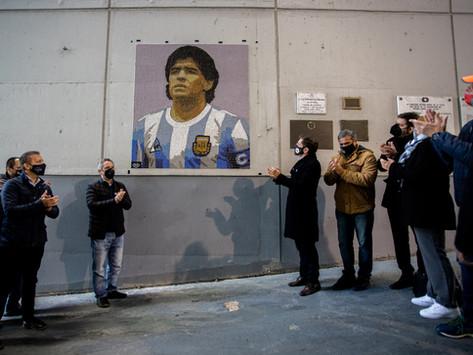 Kicillof anunció inversión para apoyar la actividad deportiva y homenajeó a Maradona