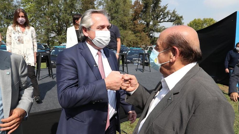 Juan José Mussi junto al Presidente Alberto Fernández.