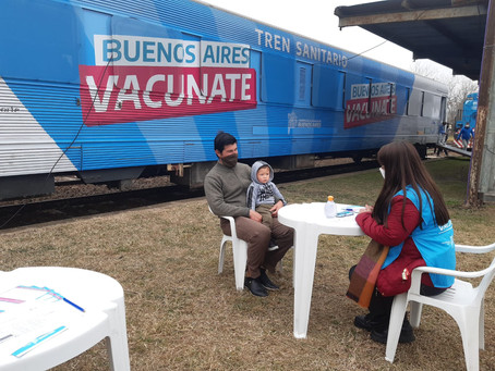 Buenos Aires   Comienza la vacunación libre en estaciones de trenes a mayores de 35 años