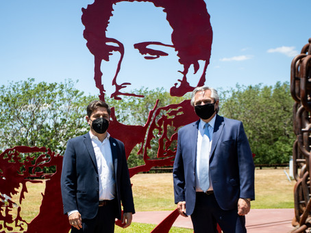 Kicillof participó junto al Presidente del 175° aniversario de la Batalla Vuelta de Obligado