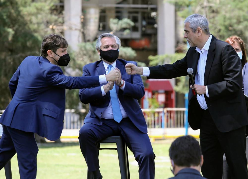 Axel Kicillof, Alberto Fernández y Jorge Ferraresi.