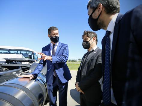 Kicillof participó de un anuncio de inversiones para la generación y transporte de gas licuado