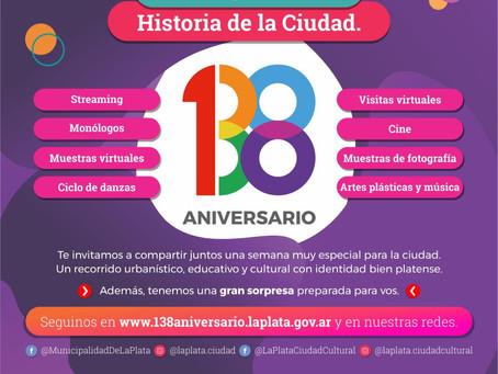 La Plata | La capital provincial celebra un nuevo aniversario y realiza actividades virtuales