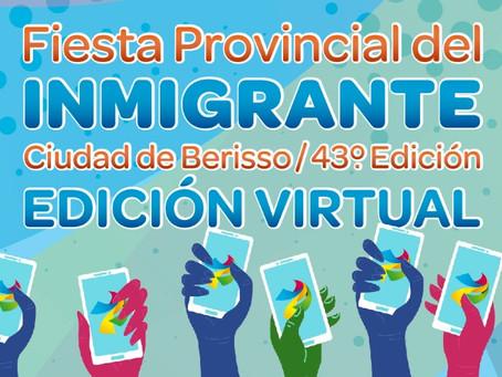 Berisso celebrará de manera virtual la nueva edición de la Fiesta Provincial del Inmigrante