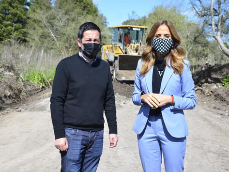 Tolosa Paz y Nardini recorrieron obras en La Plata