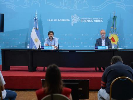 Bianco, Gollan y Vila brindan conferencia de prensa para referirse a la situación epidemiológica