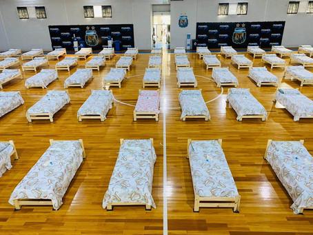 La AFA convirtió su cancha de futsal en un centro de atención a víctimas de la Pandemia