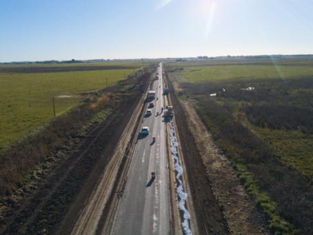 Avanza la obra de repavimentación de la Ruta 215 que conecta a Monte con la capital bonaerense