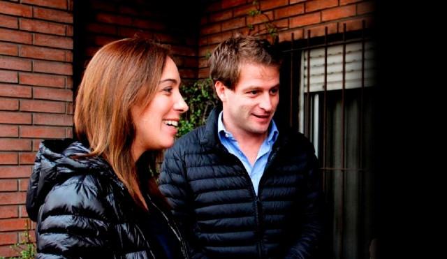 Alex Campbell junto a la ex Gobernadora Maria Eugenia Vidal