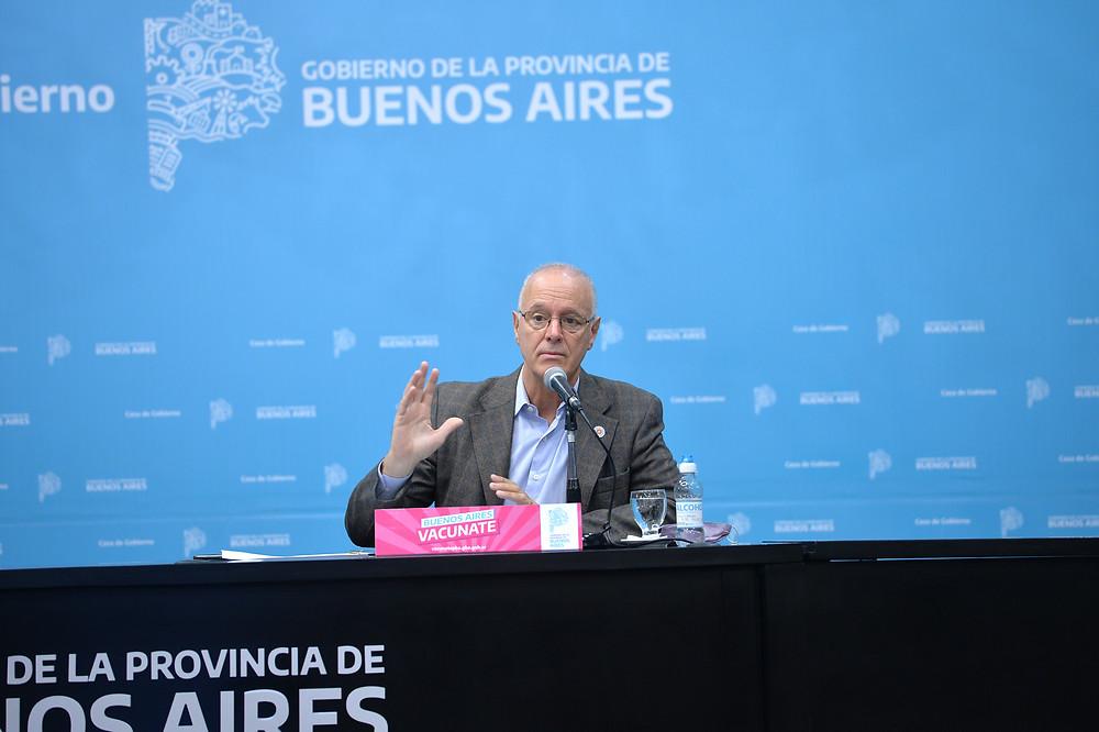 Ministro de Salud, Daniel Gollan.
