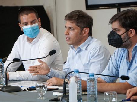 """Con el foco puesto en """"los controles"""" para evitar contagios, Kicillof se reúne con Intendentes"""