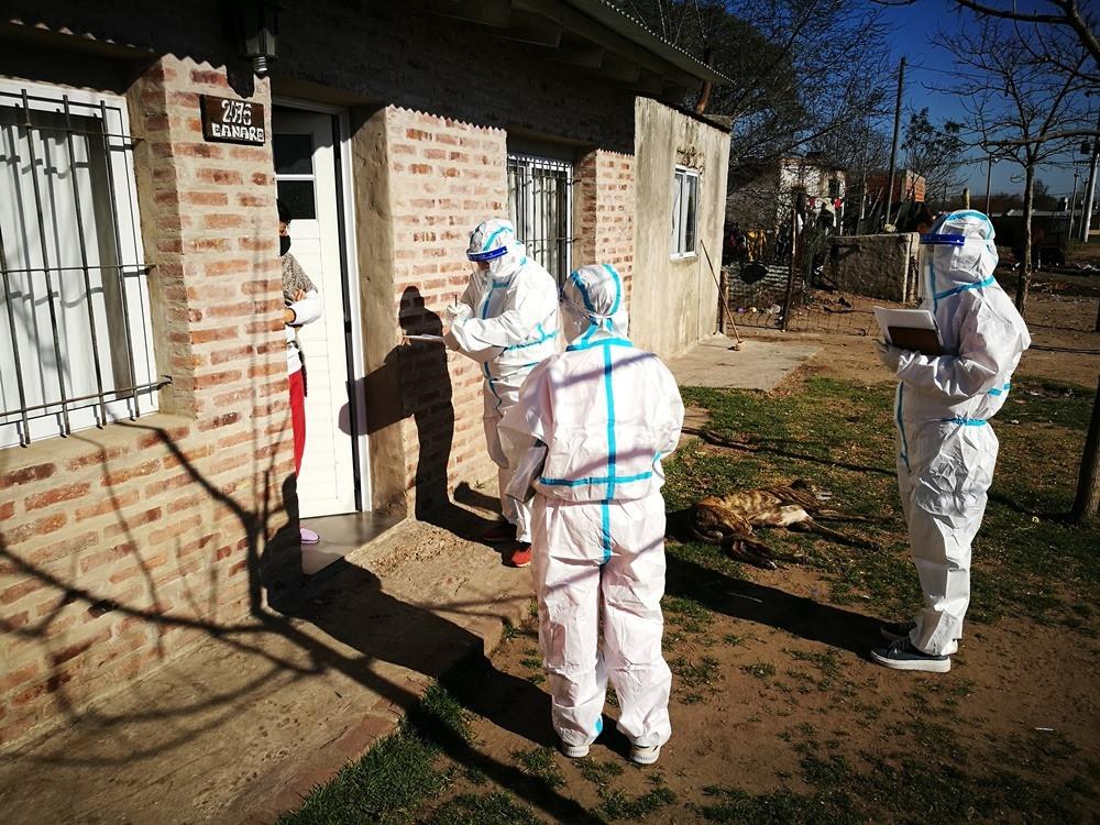 Operativo Detectar del Gobierno provincial en municipios de la provincia donde se han registrados focos de contagios de coronavirus.