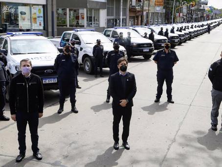 Esteban Echeverría   Kicillof y Berni entregaron 60 patrulleros y 300 cámaras de seguridad
