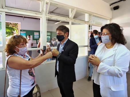 """Kicillof   """"El operativo de vacunación le está cambiando la vida a mucha gente"""""""