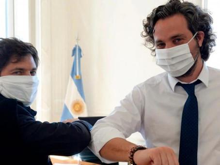 Cafiero y Kicillof recorren el Hospital Modular de Emergencia de Lomas de Zamora