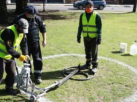 Ciudad y municipios bonaerenses realizan operativos y cierres de parques para evitar aglomeraciones