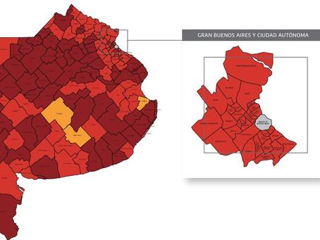 ¿En qué fase se encuentra cada municipio de la Provincia de Buenos Aires?