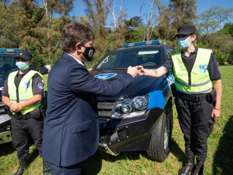 Kicillof puso en funcionamiento 54 nuevos patrulleros en Pilar