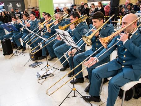 La Banda de Música del SPB abrió la Vigilia por el Día del Veterano de la guerra de Malvinas